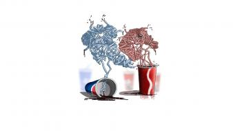 Pepsi artwork coke funny minimalistic wallpaper
