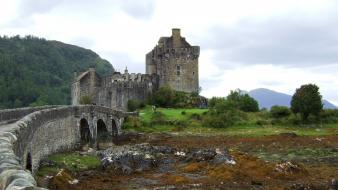 Scotland castles lakes landscapes nature wallpaper