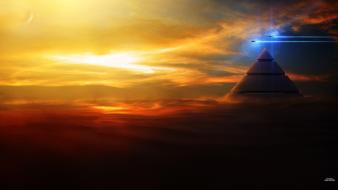 Stargate fantasy art pyramids wallpaper