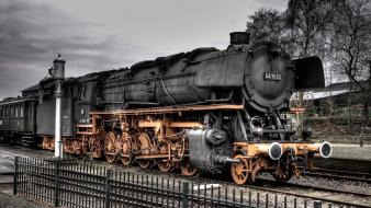 Steam train fences railing trains vehicles wallpaper