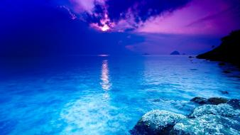 Thailand blue crystals sea Wallpaper
