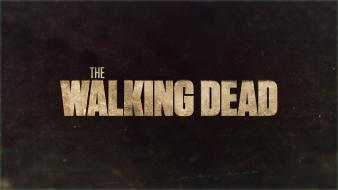 The walking dead blurred movies text Wallpaper
