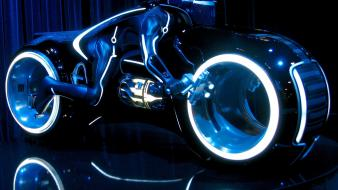 Tron legacy motorbikes movies science fiction wallpaper