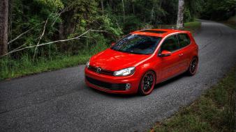 Volkswagen golf gti cars rims roads wallpaper