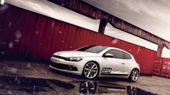 Volkswagen scirocco cars supercars tuning white wallpaper
