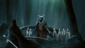 Artwork creepy fantasy art ghosts swords wallpaper