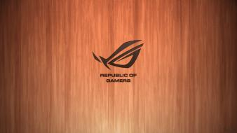 Asus crajim rog republic of gamers logos wallpaper