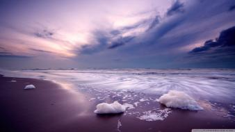 Beaches nature purple Wallpaper