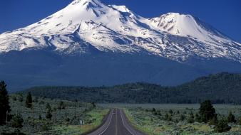 California mount shasta roads scenic wallpaper