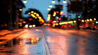 Cityscapes colors out of focus streets streetscape wallpaper