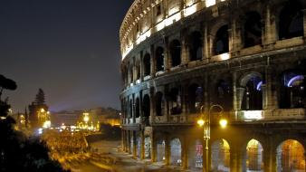 Colosseum italy rome architecture landscapes Wallpaper