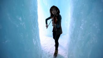 Crystallize lindsey stirling ice music violinist wallpaper