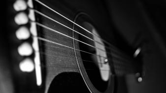 Dusty guitars monochrome music wallpaper
