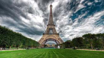 Eiffel tower hdr photography nature wallpaper