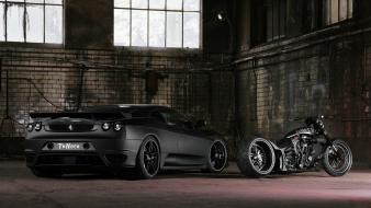 Ferrari black cars motorbikes wallpaper