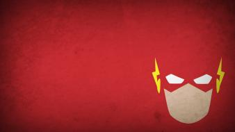 Flash superhero blo0p minimalistic red background superheroes Wallpaper
