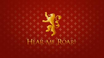 Hear me roar house lannister tv series wallpaper