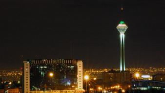 Iran milad tower tehran light wallpaper