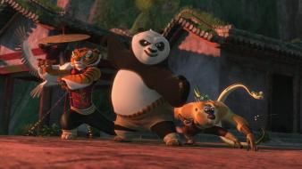 Kung fu panda cartoons bears Wallpaper