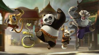 Kung fu panda jumping Wallpaper