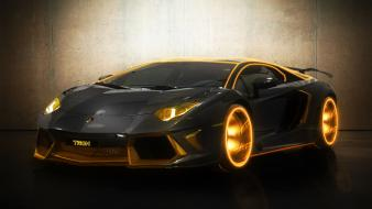 Lamborghini aventador tron cars colors digitalized wallpaper