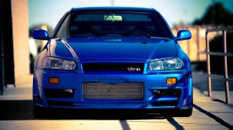 Nissan skyline blue cars wallpaper