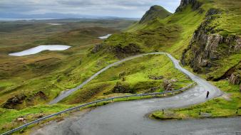 Scotland landscapes nature roads wallpaper