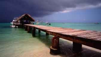 Tobago islands piers pigeons point wallpaper