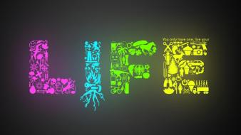Abstract multicolor life wallpaper