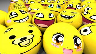 Abstract smiley meme trolling wallpaper