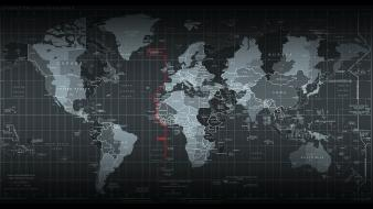 Abstract world maps time zones strategy wallpaper