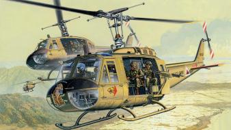Aircraft helicopters uh-1 iroquois vietnam war wallpaper
