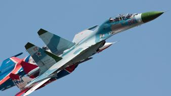 Aircraft mig-29 fulcrum su-27 flanker russian air force Wallpaper