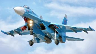 Aircraft su-27 flanker russian air force wallpaper