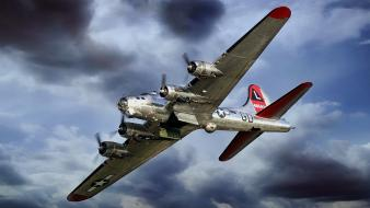 Airplanes bomber b-17 flying fortress b17 Wallpaper