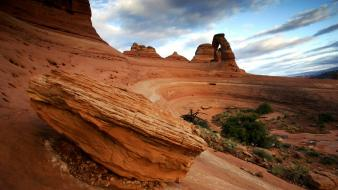 Arches national park utah seat rock formations wallpaper