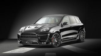 Black studio design supercars tuning porsche cayenne wallpaper