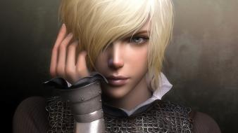 Blondes fantasy art faces wallpaper