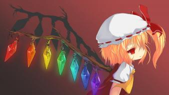 Blondes video games touhou wings vampires flandre scarlet wallpaper