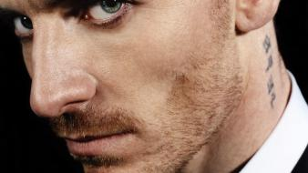 Blue eyes men actors faces michael fassbender stubble wallpaper
