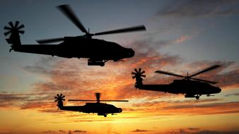 Boeing Apache Attack Helicopters wallpaper