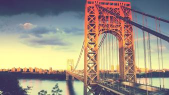 Bridges skyscapes george washington bridge cities wallpaper