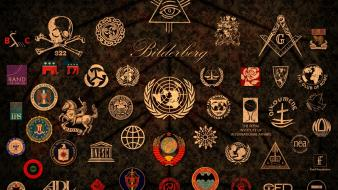 C.i.a. illuminati badges logos masons unicef symbols wallpaper