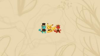 Cartoons pokemon minimalistic pikachu steampunk funny squirtle charmander wallpaper