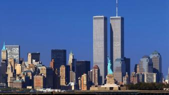 Cityscapes buildings world trade center new york city Wallpaper