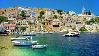 Cityscapes greece wallpaper