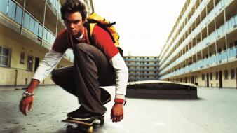Cityscapes men skateboarding wallpaper