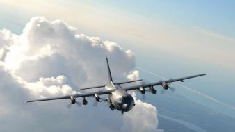 Clouds aircraft ac-130 spooky/spectre wallpaper