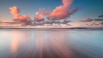 Clouds horizon seascapes wallpaper