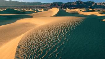 Desert death valley flat sand dunes wallpaper